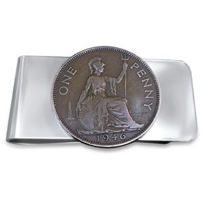 Other - Authentic British Penny Money Clip. Handmade Clip.